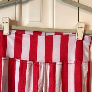 Pants - Candy Stripe Leggings Red/White Small
